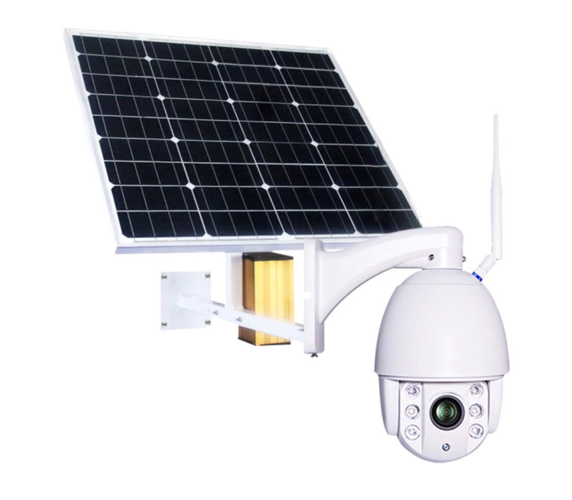 4G Security PTZ Camera with solar panel